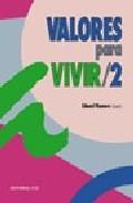 Portada de VALORES PARA VIVIR, 2