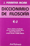 Portada de E-J: DICCIONARIO DE FILOSOFIA