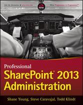 Portada de PROFESSIONAL SHAREPOINT 2013 ADMINISTRATION