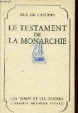 Portada de LE TESTAMENT DE LA MONARCHIE: L'INDEPENDANCE AMERICAINE (1774-1784),