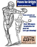 Portada de POSES FOR ARTISTS VOLUME 1 - DYNAMIC AND SITTING POSES: AN ESSENTIAL REFERENCE FOR FIGURE DRAWING AND THE HUMAN FORM (INSPIRING ART AND ARTISTS)