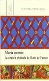 Portada de MARIA ORANTE: LA ORACION TRINITARIA DE MARIA DE NAZARET