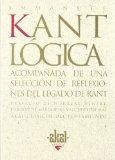 Portada de LOGICA ACOMPAÑADA DE UNA SELECCION DE REFLEXIONES DEL LEGADO DE KANT