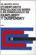Portada de COMENTARIOS PSICOLOGICOS SOBRE LA ENSEÑANZAS DE GURDJIEFF Y OUSPENSKY