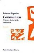 Portada de COMMUNITAS: ORIGEN Y DESTINO DE LA COMUNIDAD