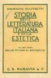 Portada de STORIA DELLA LETTERATURA ITALIANA E DELLA ESTETICA PER GL'ISTITUTI MEDI SUPERIORI SECONDO I VIGENTI PROGRAMMI.