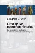 Portada de EL FIN DE LAS PEQUEÑAS HISTORIAS
