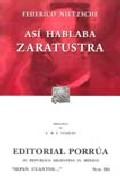 Portada de ASI HABLABA ZARATUSTRA