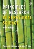 Portada de PRINCIPLES OF RESEARCH IN BEHAVIORAL SCIENCE: THIRD EDITION