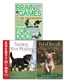 Portada de BRAIN GAMES FOR DOGS TRAINING YOUR PUPPY 3 BOOKS COLLECTION SET, (BRAIN GAMES FOR DOGS: FUN WAYS TO BUILD A STRONG BOND WITH YOUR DOG AND PROVIDE IT WITH VITAL MENTAL STIMULATION, TOTAL RECALL AND TRAINING YOUR PUPPY EVERYTHING YOU NEED TO KNOW ABOUT
