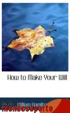 Portada de HOW TO MAKE YOUR WILL