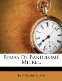Portada de RIMAS DE BARTOLOMÉ MITRE...