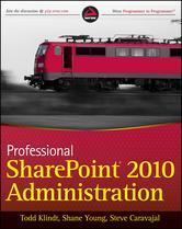 Portada de PROFESSIONAL SHAREPOINT 2010 ADMINISTRATION