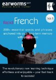Portada de RAPID FRENCH: V. 1: 200+ ESSENTIAL WORDS AND PHRASES ANCHORED INTO YOUR LONG TERM MEMORY WITH GREAT MUSIC (MUSICAL BRAIN TRAINER) BY EARWORMS LEARNING ( 2005 ) AUDIO CD