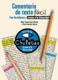 Portada de COMENTARIO DE TEXTO FACIL : PARA BACHILLERATO Y ACCESO A LA UNIVERSIDAD (CHULETAS)