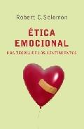 Portada de ETICA EMOCIONAL: UNA TEORIA DE LOS SENTIMIENTOS