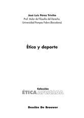 Portada de ÉTICA Y DEPORTE - EBOOK