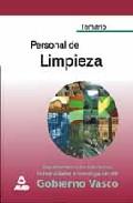 Portada de PERSONAL DE LIMPIEZA DEL GOBIERNO VASCO: TEMARIO