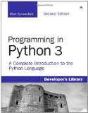Portada de PROGRAMMING IN PYTHON 3: A COMPLETE INTRODUCTION TO THE PYTHON LANGUAGE (DEVELOPERS LIBRARY)