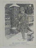 "Portada de 7X10"" PUNCH CARTOON 1924 THE SEASONS GREETINGS CHRISTMAS , GONE TO SWITZERLAND"
