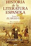 Portada de HISTORIA DE LA LITERATURA ESPAÑOLA: EL SIGLO XVIII