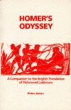 "Portada de HOMER'S ""ODYSSEY"": A COMPANION TO THE ENGLISH TRANSLATION OF RICHMOND LATTIMORE (CLASSICS COMPANIONS) BY PETER JONES AMMENDED REPRINT EDITION (1991)"