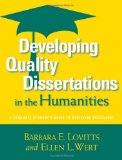 Portada de DEVELOPING QUALITY DISSERTATIONS IN THE HUMANITIES: A GRADUATE STUDENT'S GUIDE TO ACHIEVING EXELLENCE
