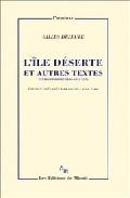 Portada de L'ILE DESERTE ET AUTRES TEXTES: TEXTES ET ENTRETIENS 1953-1974