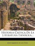 Portada de HISTORIA CR TICA DE LA LITERATURA ESPA OLA...