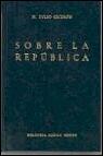 Portada de SOBRE LA REPUBLICA