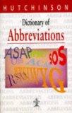 Portada de DICTIONARY OF ABBREVIATIONS (HUTCHINSON DICTIONARIES)