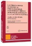 Portada de PRESTACION ECONOMICA POR MATERNIDAD PATERNIDAD Y RIESGOS DURANTE EL EMBARAZO Y LA LACTANCIA NATURAL