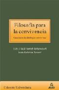 Portada de FILOSOFIA PARA LA CONVIVENCIA: CAMINOS DE DIALOGOS NORTE-SUR