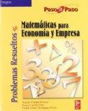 Portada de PROBLEMAS RESUELTOS DE MATEMATICAS PARA ECONOMIA Y EMPRESA