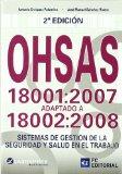 Portada de OHSAS 18001:2007 ADAPTADO A 18002:2008