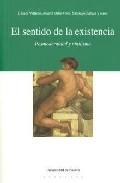Portada de EL SENTIDO DE LA EXISTENCIA. POSMODERNIDAD Y NIHILISMO