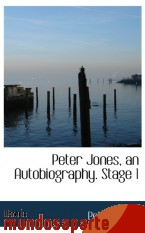 Portada de PETER JONES, AN AUTOBIOGRAPHY. STAGE 1