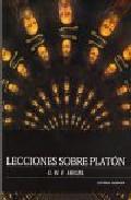 Portada de LECCIONES SOBRE PLATON