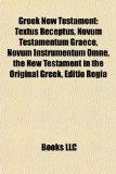 Portada de GREEK NEW TESTAMENT: TEXTUS RECEPTUS, NO