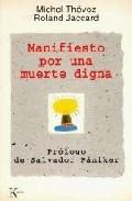 Portada de MANIFIESTO POR UNA MUERTE DIGNA