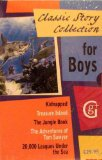 Portada de CLASSIC STORY COLLECTION FOR BOYS 5-BOOKS BOX SET (KIDNAPPED, TREASURE ISLAND, THE JUNGLE BOOK, THE ADVENTURES OF TOM SAWYER, 20.000 LEAGUES UNDER THE SEA)