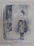 "Portada de 7X10"" PUNCH CARTOON 1926 THE HAUNTED ROOM FRANCE MINISTRY OF FINANCE , FRANC"