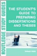 Portada de STUDENT'S GUIDE TO PREPARING DISSERTATIONS AND THESES