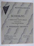 Portada de 2 PIANOS 4 HANDS DUET MENDELSSOHN SCHERZO FROM A MIDSUMMER NIGHTS DREAM