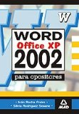 Portada de MICROSOFT WORD 2002  PARA OPOSITORES