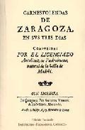 Portada de CARNESTOLENDAS DE ZARAGOZA, EN SVS TRES DIAS