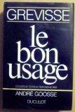 Portada de LE BON USAGE (GRAMMAIRE FRANÇAISE)