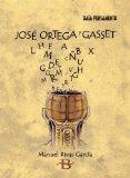 Portada de JOSE ORTEGA Y GASSET