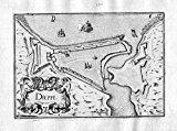 Portada de DIEPPE - DIEPPE NORMANDIE FRANCE KUPFERSTICH KARTE MAP ENGRAVING GRAVURE