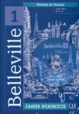 Portada de BELLEVILLE LEVEL 1 WORKBOOK WITH CD (FRENCH EDITION) CLE INTERNATIONAL EDITION BY CUNY PUBLISHED BY CLE (1999)